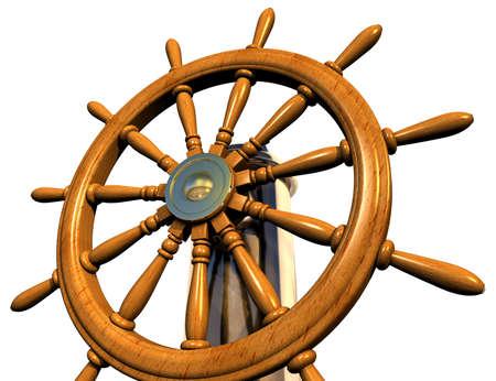 timon de barco: Volante