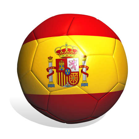 national colors: Soccer ball designed in the national colors of Spain