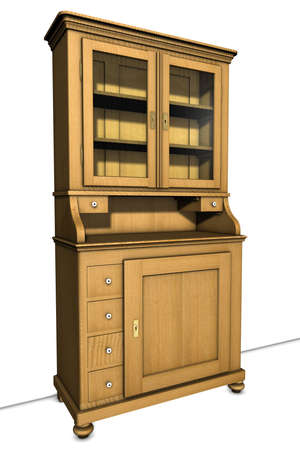 Drawing of an old cupboard  Stock Photo - 6403425