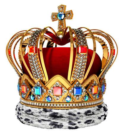 koninklijke kroon: Koninklijke kroon met juwelen decoratie