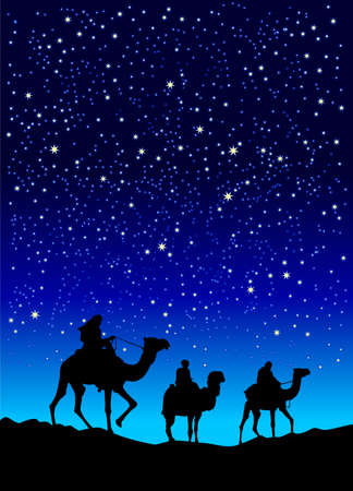 wise men: Illustration of three wise men