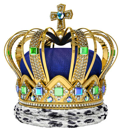 Royal crown with jewellery decoration photo