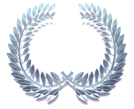 Silvery laurel wreath for all events photo