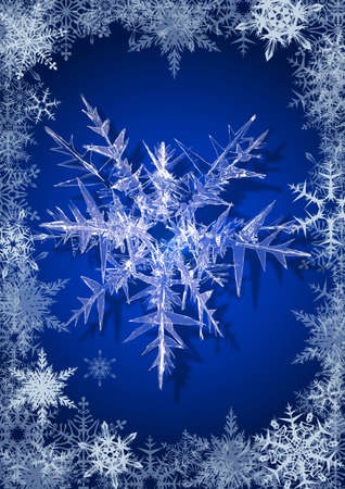 Snowflakes on a light blue background Stock Photo - 6414114