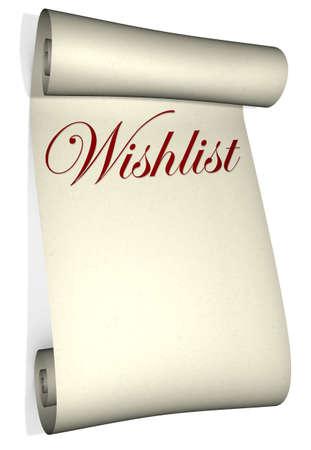 A report� � la liste de souhaits isol� sur un fond blanc Banque d'images