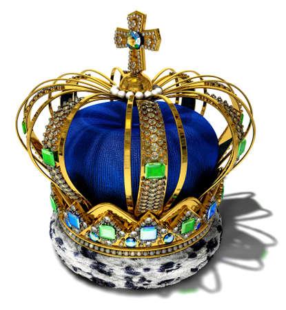 corona real: Corona con decoraci�n de joyer�a Foto de archivo