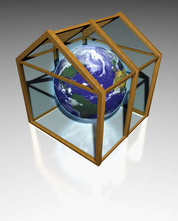 deviation: The planet earth in a transparent greenhouse