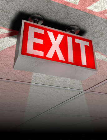 exit sign: Exit sign in red