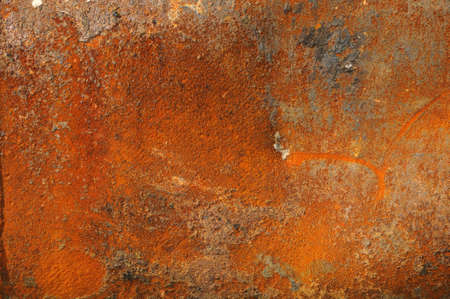 A rusty old metal plate