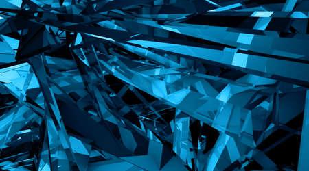 garish: Techno fantasies - Abstract 3d illustration in garish blue and black