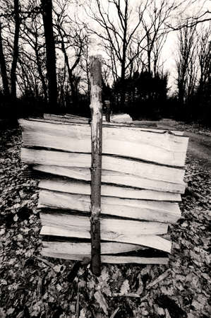 wooden metre: Firewood - A stack of lumber firewood