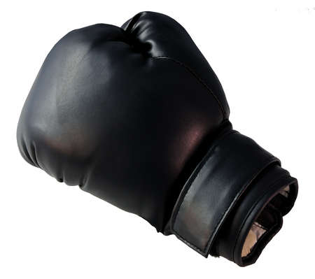 Boxing glove - Boxing glove in black on a white background photo