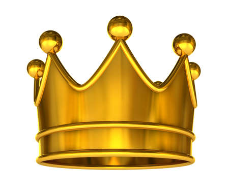 corona reina: Corona dorada - corona de oro aislado en un fondo blanco  Foto de archivo