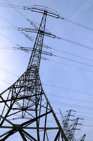 Electrical towers Tall electrical towers under a clear sky Stock Photo - 8222822