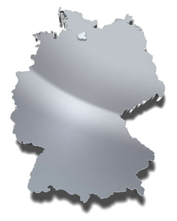 Hamburg 3d map Graphical depiction of the city-state and federal state Hamburg in Germany