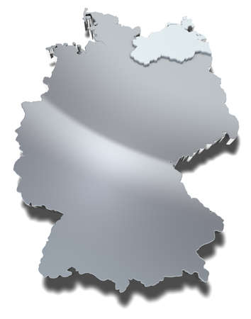 Mecklenburg-Vorpommern 3d map Graphical depiction of the federal state Mecklenburg-Vorpommern in Germany
