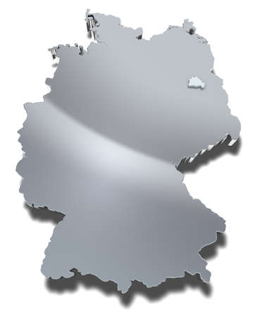Berlin 3d map Graphical depiction of the city-state and federal state Berlin in Germany