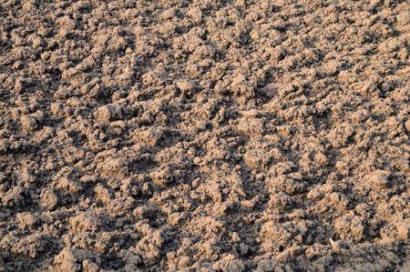 ploughed field: Ploughed soil Ploughed soil in the autumn sunshine Stock Photo