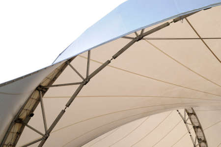 Tent pavilion Part of marquee with framework photo