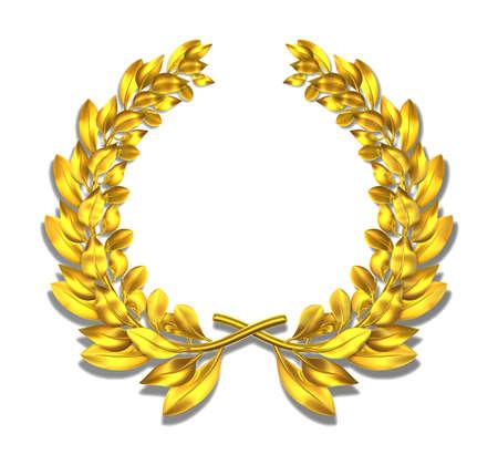 laureles: Corona de laurel de oro corona de laurel para todos los eventos Foto de archivo