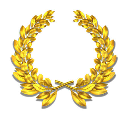 wreath: Laurel wreath Golden laurel wreath for all events