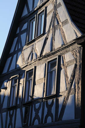 ade: Half-timbered house The fa�ade of an age old half-timbered house Stock Photo