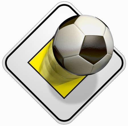 Prity soccer The road sign for prity and a soccer ball in black and white Stock Photo - 12607183