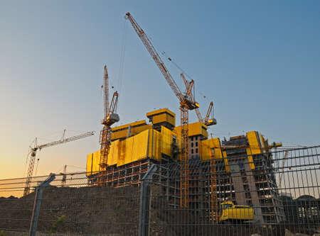 construction companies: Big construction site A big construction site with cranes