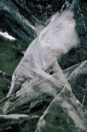 Cracked ice Detail of a frozen river with cracked ice Stock Photo - 13571653