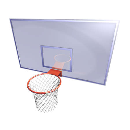 backstop: Basketball hoop Illustration of a basketball hoop fitted at a bluish board