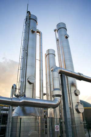 biomasa: Parte de la planta de biogás de una planta de biogás