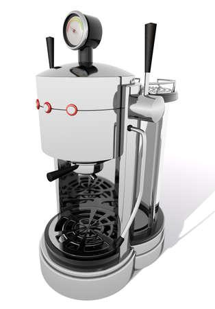 steel bar: Espresso machine An espresso machine on a white background