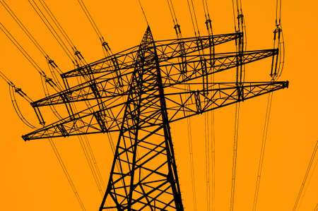 electrical tower: Electrical tower abstract silhouette