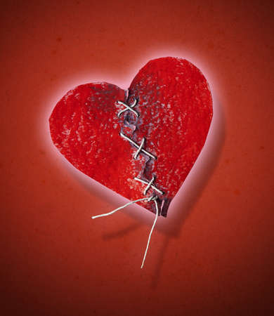 heartbroken: Heartbroken and stitched