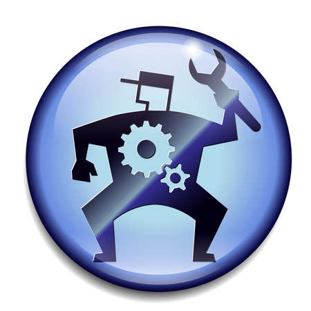 Mechanic button sign