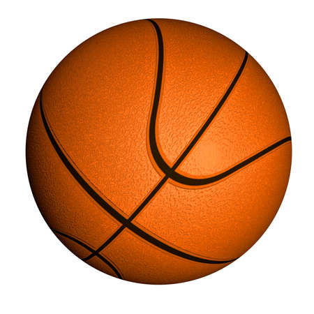 nylon: Illustration of a basketball ball isolated on a white background Stock Photo