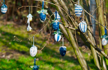 Easter eggs tree colorfull holiday Standard-Bild