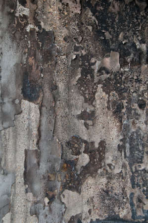 smut: wall damaged by fire texture Stock Photo