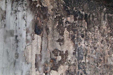 detriment: wall damaged by fire texture Stock Photo