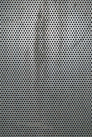 metal grid: Part of a metal grid fence