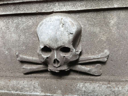 the place is important: Gravestone with skull