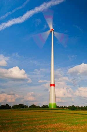 co2 neutral: Wind plant Wind power windwheels Stock Photo
