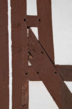constancy: Halftimbered house structure detail