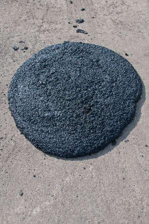 infrastructures: Asphalt recycling broken pieces heaped