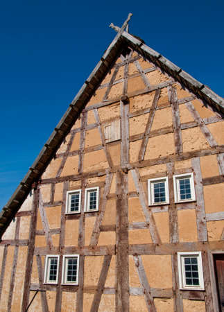 permanence: Halftimbered house structure detail