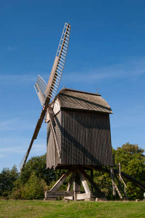 wind force wheel: Wind mill at ancient landscape museum