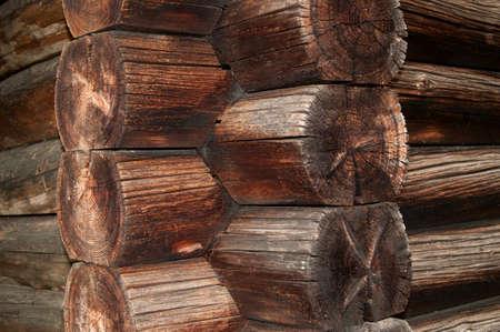 dwell house: Blockhouse wall texture log cabin wall construction detail edge