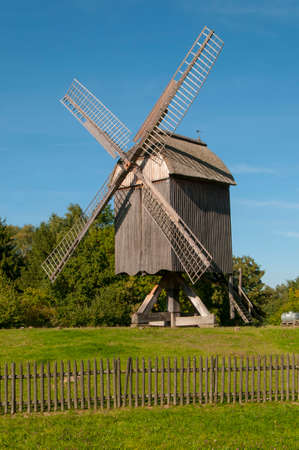 wind force wheel: Wind mill ancient