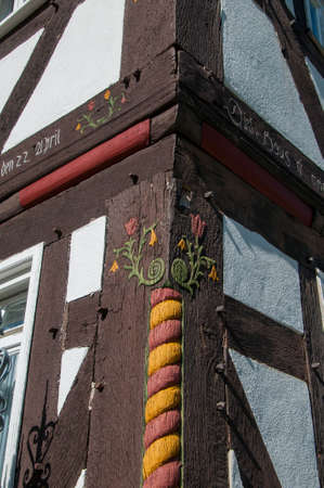 statics: Halftimbered house structure detail