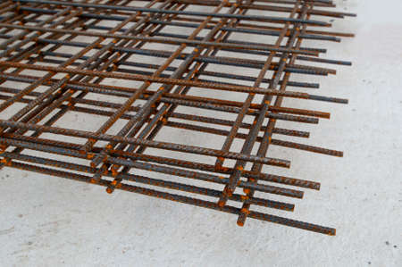 reinforcement construction site grid rust